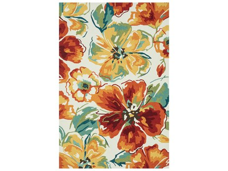 Loloi Rugs Summerton Srs18 2'0'' X 5'0'' Rectangular Ivory / Floral Area Rug