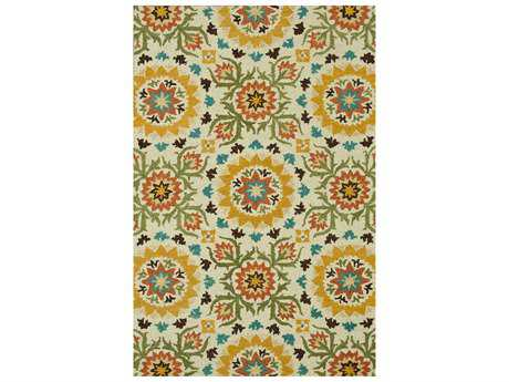 Loloi Rugs Taylor HTY04 Rectangular Ivory / Green Area Rug