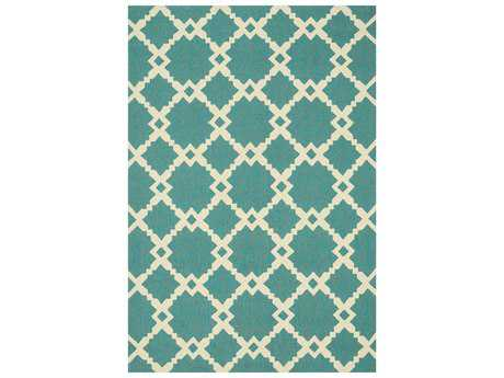 Loloi Rugs Ventura HVT09 Rectangular Turquoise / Ivory Area Rug