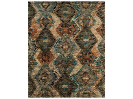 Loloi Rugs Xavier XV-07 Rectangular Tobacco / Blue Area Rug