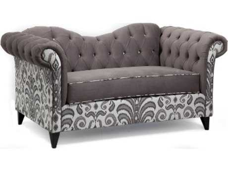 Loni M Designs Ginger Mixed Charcoal Settee