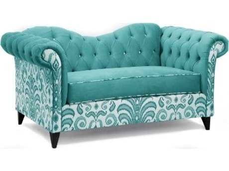 Loni M Designs Ginger Mixed Teal Settee