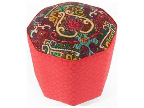 Loni M Designs Moroccan Red Ottoman