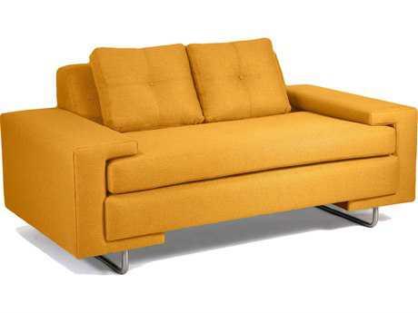Loni M Designs Rico Mustard Loveseat