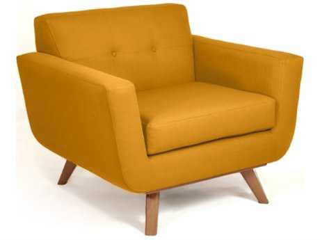 Loni M Designs Atomic Mustard Accent Chair