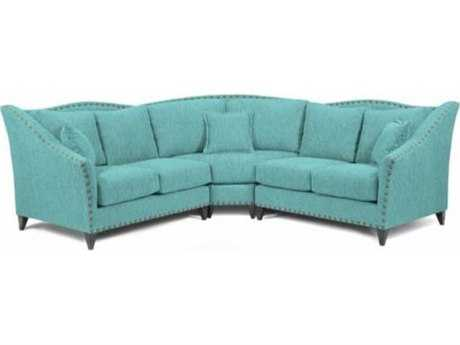 Loni M Designs Alexandria Teal Sectional Sofa