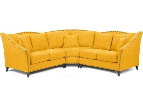 Loni M Designs Alexandria Mustard Sectional Sofa