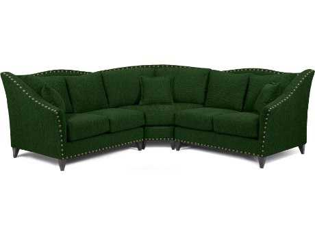 Loni M Designs Alexandria Emerald Sectional Sofa