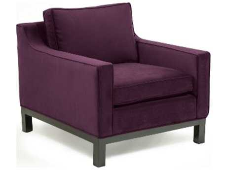 Loni M Designs Seymour Eggplant Accent Chair