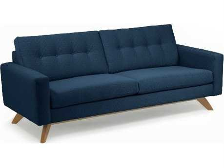 Loni M Designs Stanley Navy Textured Sofa