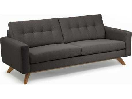 Loni M Designs Stanley Charcoal Textured Sofa