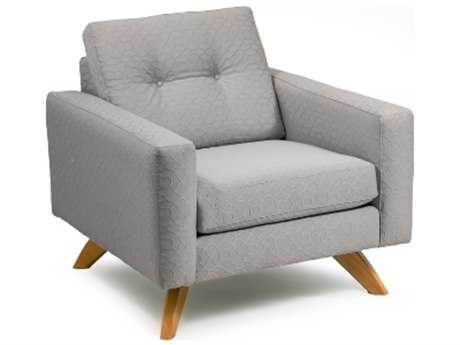 Loni M Designs Stanley Gray Textured Accent Chair