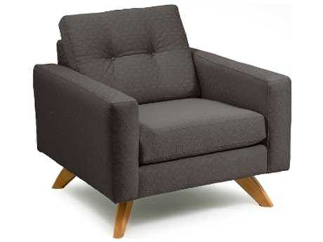 Loni M Designs Stanley Charcoal Textured Accent Chair