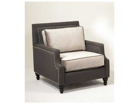 Loni M Designs Madrid Charcoal Accent Chair