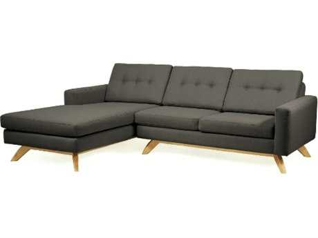 Loni M Designs Stanley Charcoal Sectional Sofa