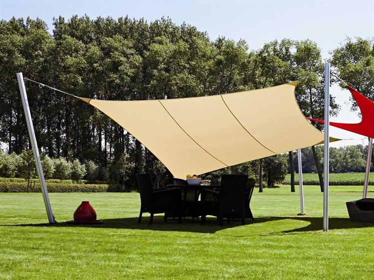 Luxury Umbrellas Ingenua 10 Foot Square Anodized Aluminum Shade Sail