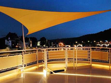 Luxury Umbrellas Ingenua 16'5  Triangular Anodized Aluminum Shade Sail Patio Umbrella
