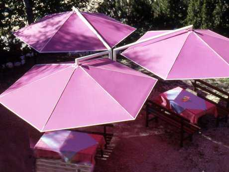 Luxury Umbrellas May Rialto Triple Customizable Offset Umbrella