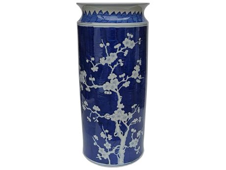 Legend of Asia Blue & White Ancient Pattern Garden Stool LOA1166