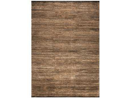 Ligne Pure Reflect Rectangular Brown Area Rug
