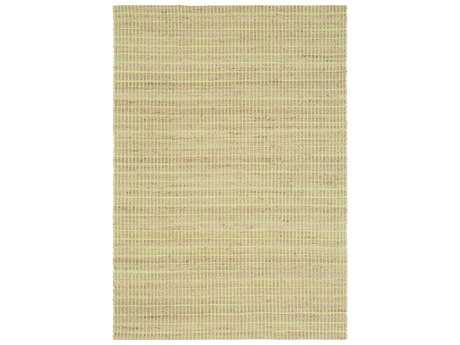 Ligne Pure Enjoy Green & Beige Rectangular Area Rug