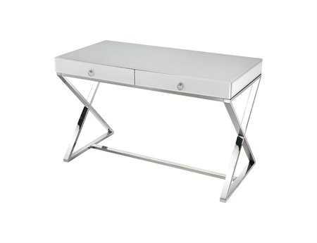 Dimond Home 48 x 24 Rectangular White Glass Desk