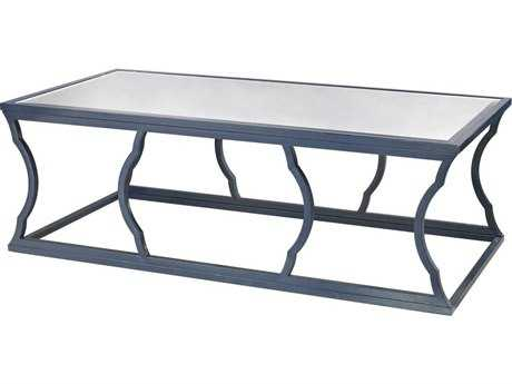Dimond Home 60 x 30 Rectangular Metal Cloud Navy Blue Coffee Table