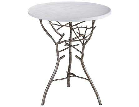 Dimond Home Silver 18 Round Thicket End Table