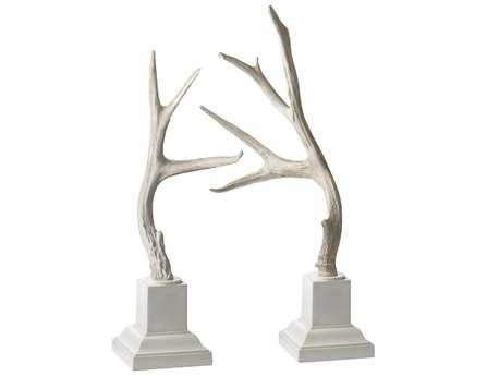 Dimond Home Weathered Resin Buck Antlers (Set of 2)