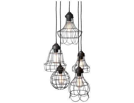 Dimond Home Brown Wire Five-Light Mini-Pendant