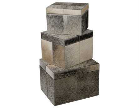 Dimond Home Nested Faux Pony Boxes (Set of 3)