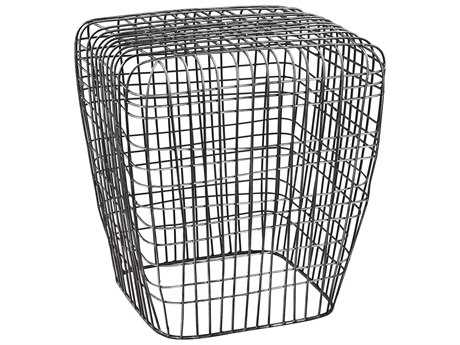 Dimond Home Woven Wire Burnt Silver Accent Stool