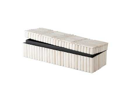 Dimond Home Bone Rod Pattern Rectangular Box