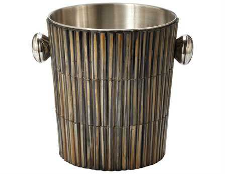 Dimond Home Burnt Horn Dowel Ice Bucket