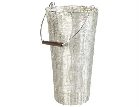 Dimond Home Large Silver Wire Surge Pail
