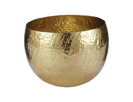 Dimond Home Small Gold Hammered Brass Dish