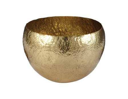 Dimond Home Large Gold Hammered Brass Dish