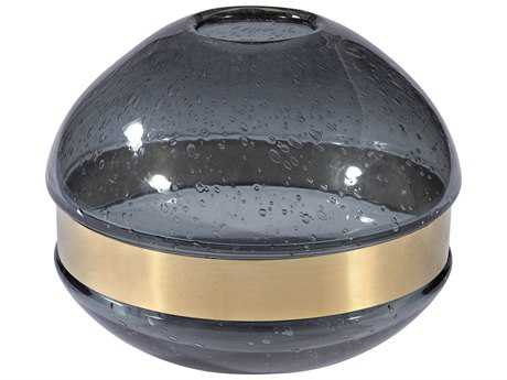 Dimond Home Banded Globe Grey Smoke Vase