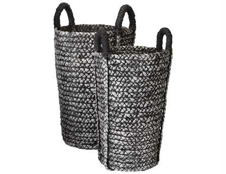 Dimond Home Washed Black Denim Umbrella Basket (Set of 2)