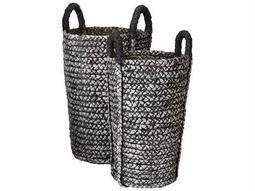 Dimond Home Washed Black Denim Umbrella Basket (Set of 2)