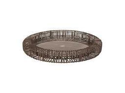 Dimond Home Large Gray Wicker Spoke Tray