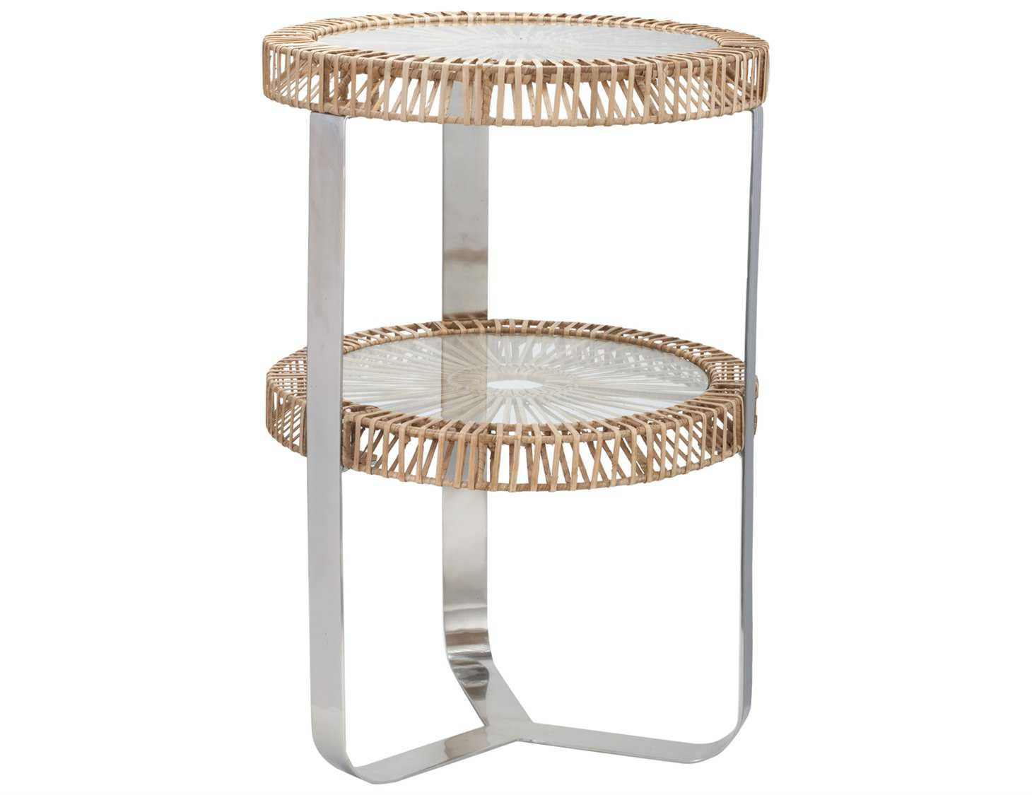 Dimond Home 19 Round Natural Split Rattan End Table Ls466035