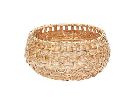 Dimond Home Small Natural Fish Scale Basket