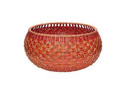 Dimond Home Large Red & Orange Fish Scale Basket