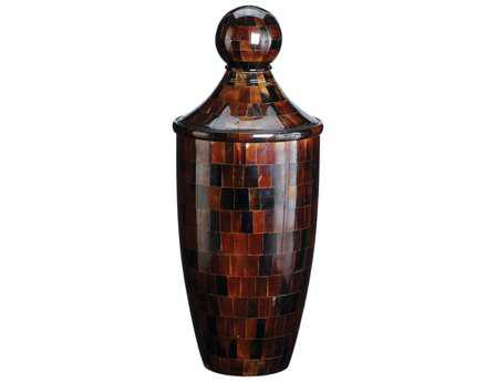 Dimond Home Small Chestnut Horn Urn with Lid
