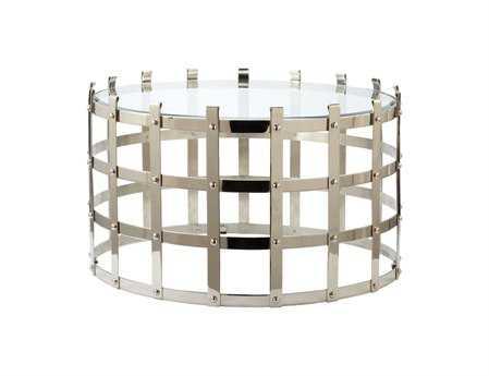 Dimond Home 30 Round Metal Strap Coffee Table