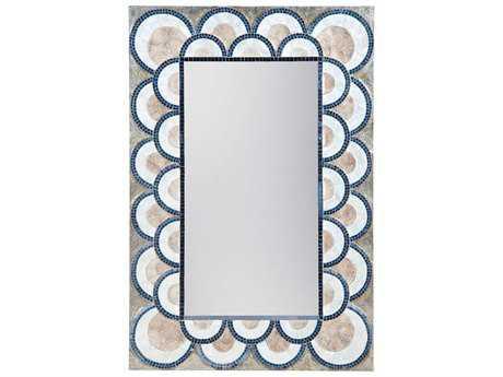 Dimond Home Art Deco 31.5W x 47H Rectangular Capiz Shell & Glass Mosaic Wall Mirror