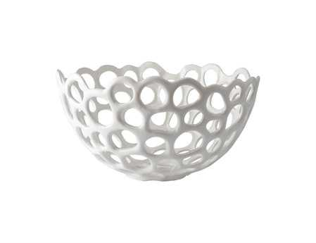 Dimond Home Large Perforated Porcelain Dish