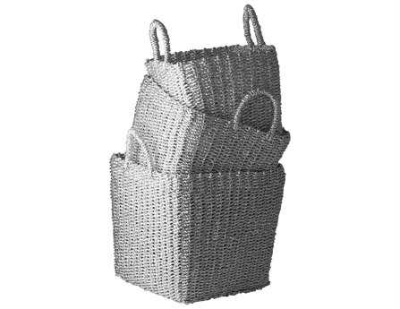 Dimond Home Nested Recycled Twisted Silver Foil Baskets (Set of 3)