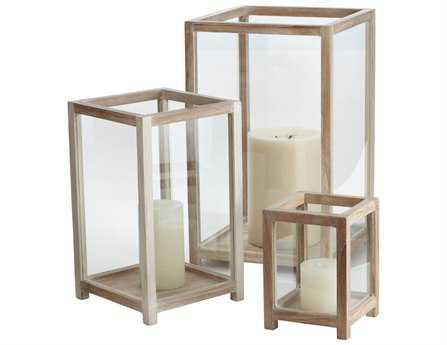 Dimond Home Pepper Wood Box Hurricanes (Set of 3)